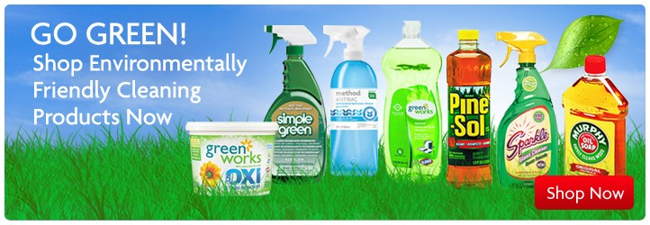 Shop environmentally friendly cleaners and detergents