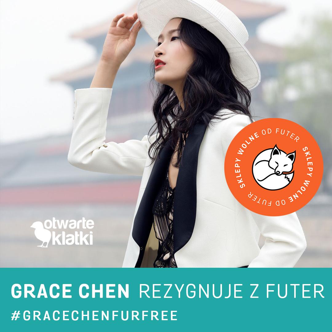 furfree, china fashion designer, grace chen, cruelty free, projektanci mody rezygnują z futer
