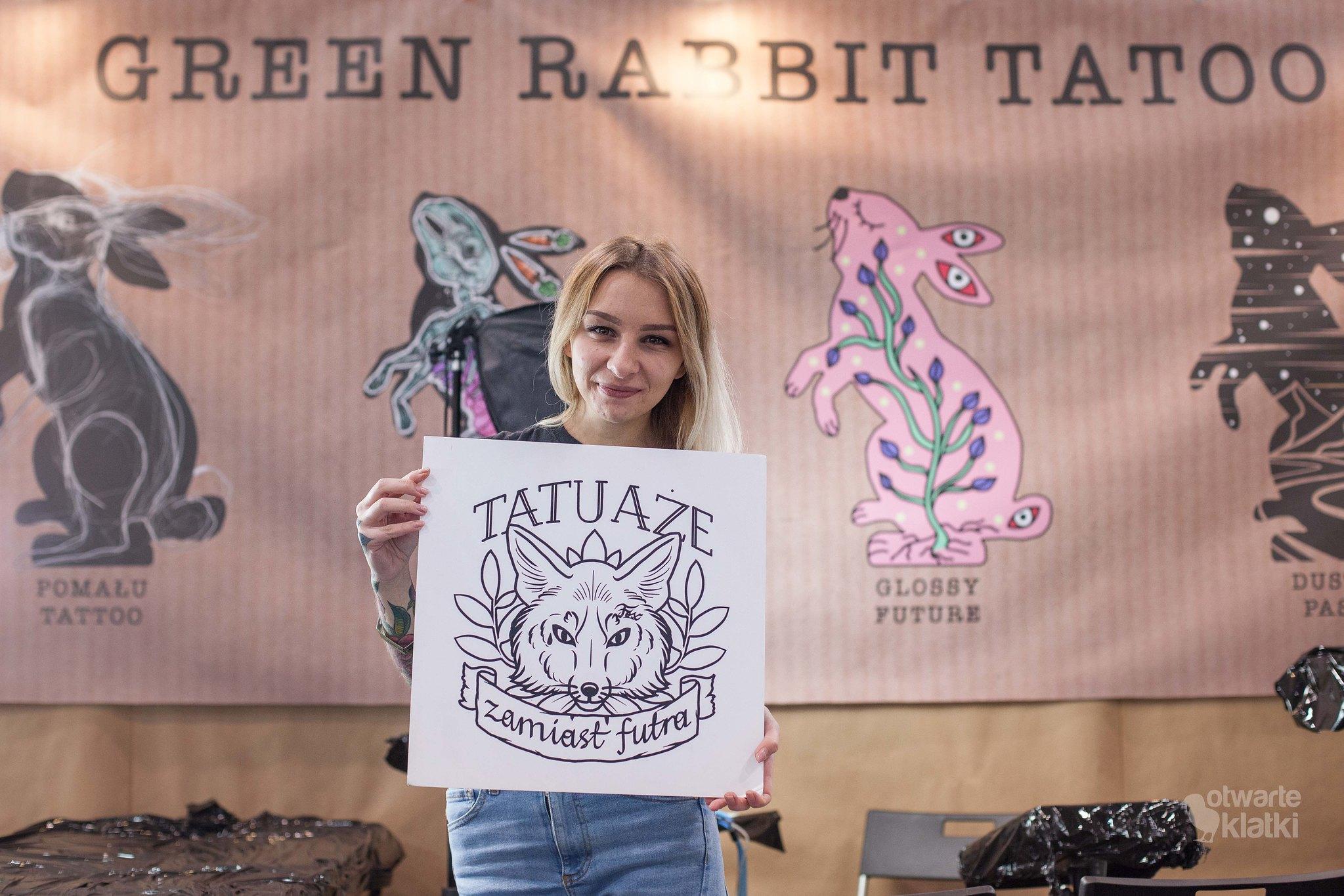 Tatuaże Zamiast Futra Green Rabbit Tatoo Tydzień Bez Futra