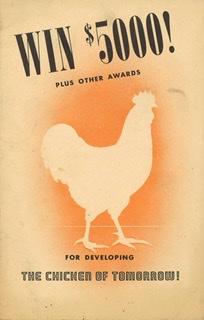 Plakat konkursu na najszybciej rosnące kurczaki