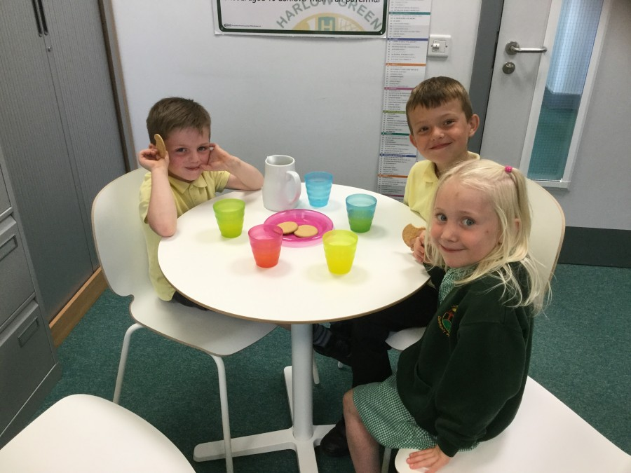 Reception – Juice and Biscuits