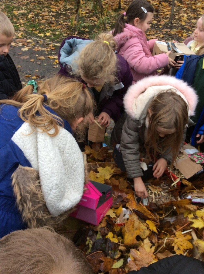 Year 2's Bug Hotel open for business.