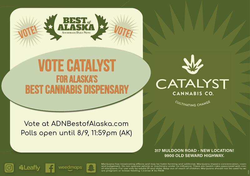 WEDNESDAY, AUGUST 5, 2020 Ad - Catalyst Cannabis Company - Anchorage Press