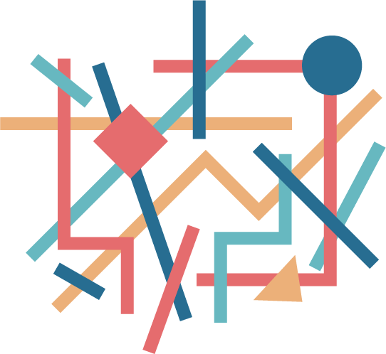 Abstract illustration representing unstructured discussion, like homework help or chat