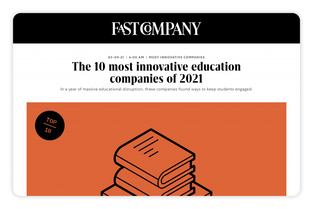 screenshot of fast company article header image
