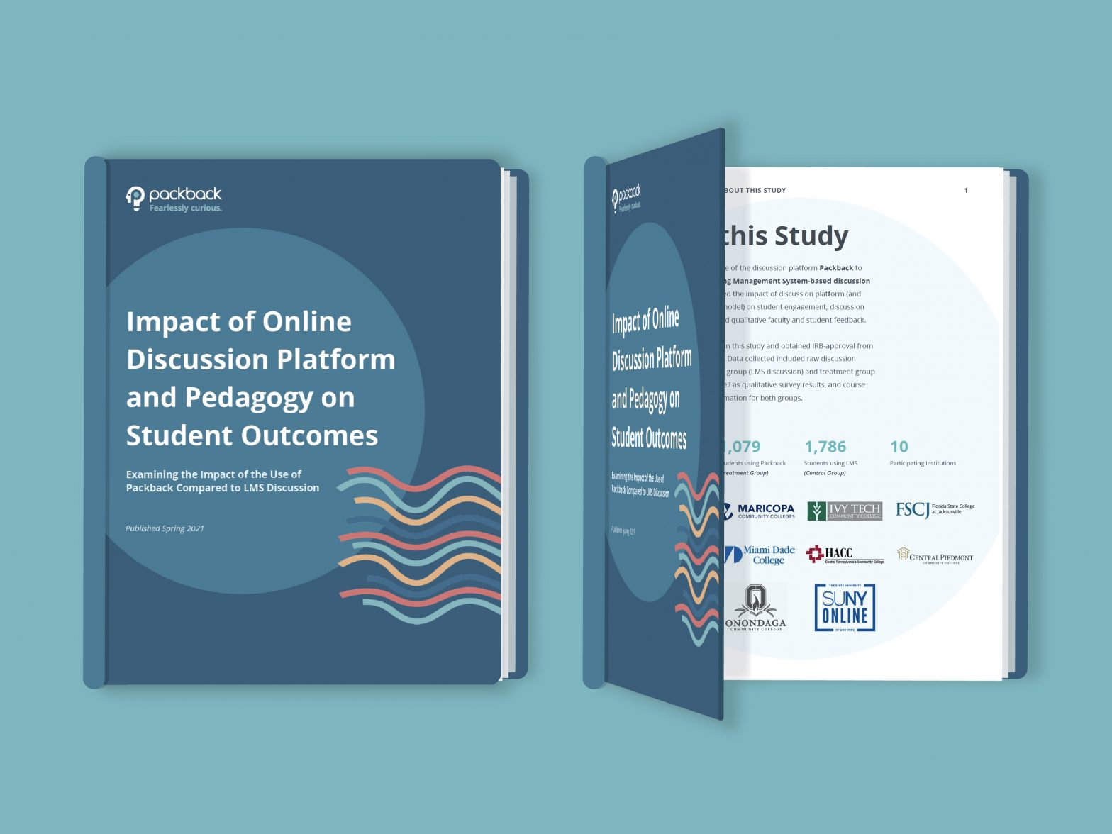"""White Paper: Impact of Online Discussion Platform and Pedagogy on Student Outcomes"" Cover Image"