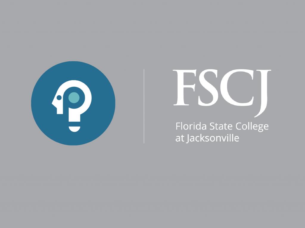 Packback logo next to FSCJ logo on grey background