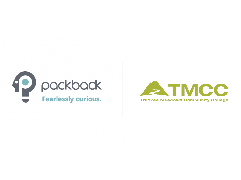 Packback Logo and Truckee Meadows Community College Logo