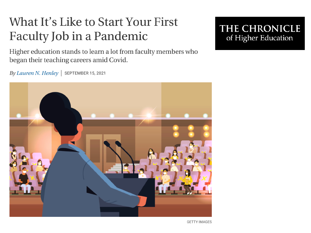 Screenshot of Chronicle of Higher Education Article Cover Image