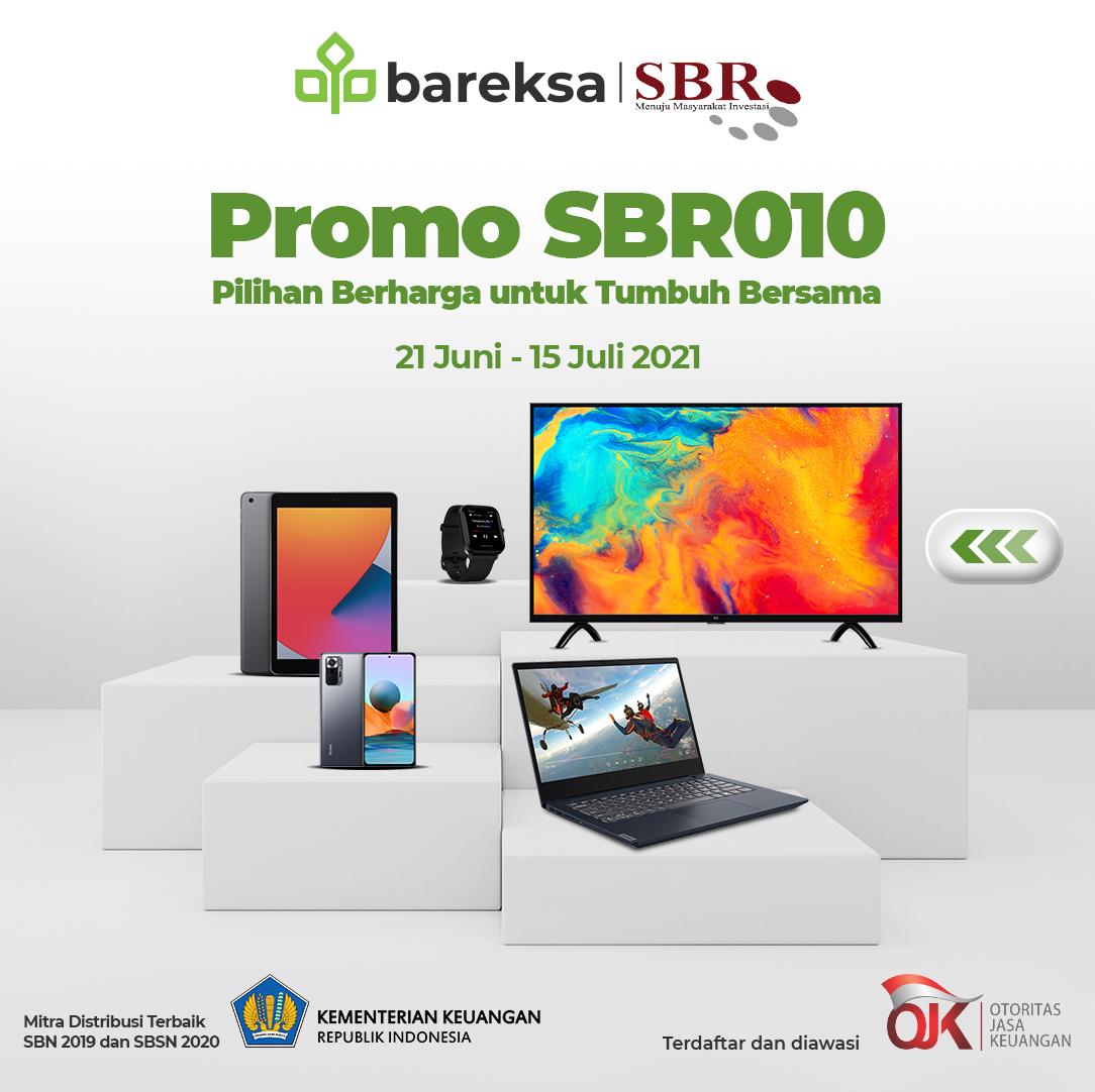 Promo SBR010 di Bareksa, Pilih Hadiah Smartphone hingga Laptop