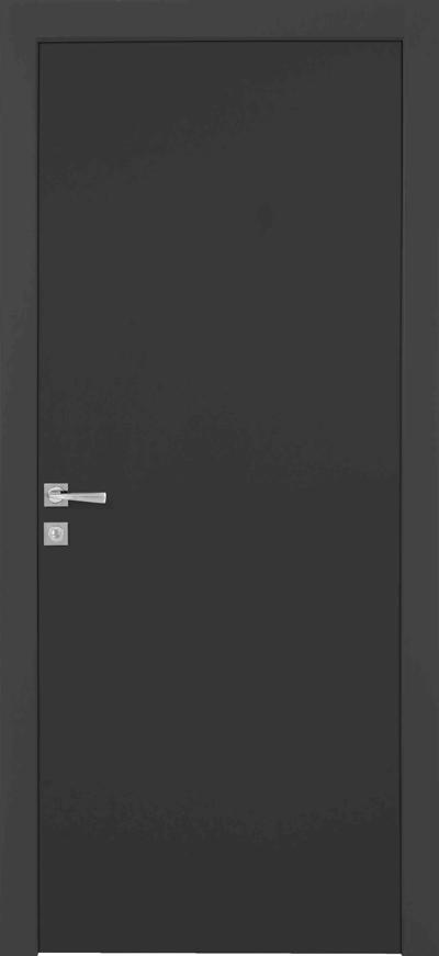 דלתות פנים מסדרת דלת פנים מסוג יוניק פן-זירו בגוון אפור כהה של פנדור