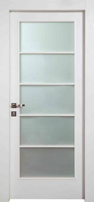 דלתות פנים מסדרת דלת פנים מסוג יוניק פרימיום טופ טאצ' לבן עם צוהר יפני של פנדור