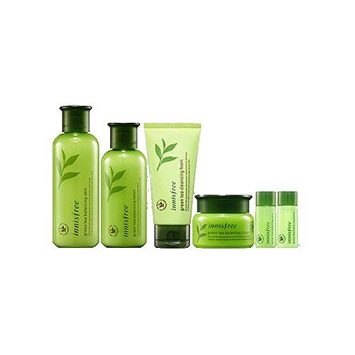 INNISFREE Green Tea Balancing Skin Care Lotion 6 Item Set
