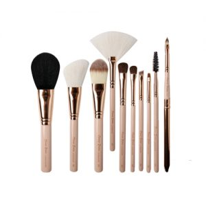CERRO QREEN Fashion Makeup Brush 10 Item Set Natural Animal Wool