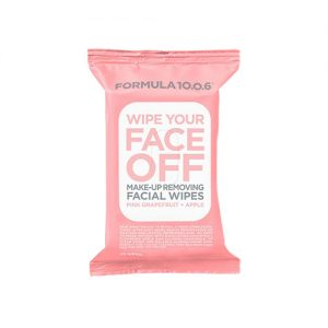 FORMULA 10 0 6 Wipe Your Face Off Make-Up Removing Facial Wipes 25pcs