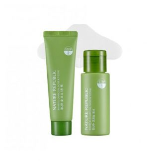 NATURE REPUBLIC Bamboo Charcoal Nose & T-Zone Pack 3 Item Set
