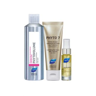 PHYTO Dry & Flat Hair 3 Item Value Set
