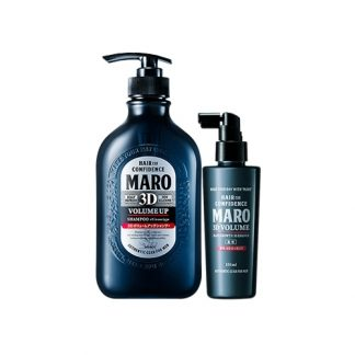 MARO 3D Volume Up Shampoo EX and 3D Volume Hair Growth 3D Essence 2 Item Set