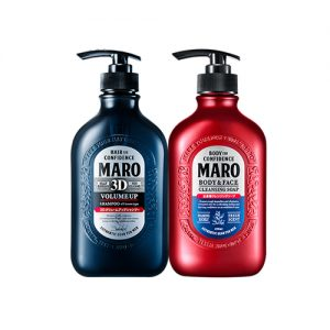 MARO 3D Volume Up Shampoo EX and Body & Face Cleansing Soap 2 Item Set