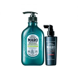 MARO Deo Scalp Shampoo and 3D Volume Hair Growth 3D Essence 2 Item Set