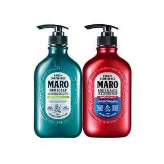 MARO Deo Scalp Shampoo and Body & Face Cleansing Soap 2 Item Set