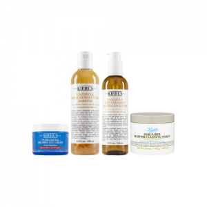 KIEHLS Intermediate Oil Control And Cleansing Masque 4 Item Set