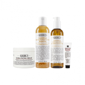 KIEHLS Intermediate Moisturizing And Lip Balm 4 Item Set