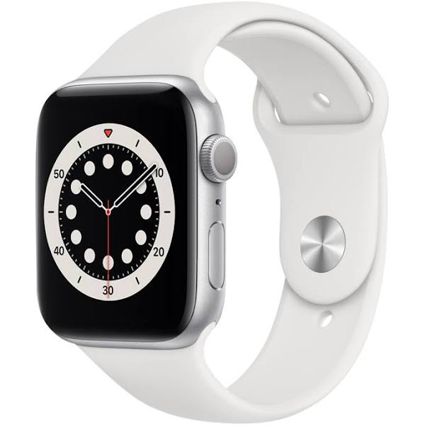 Apple Watch Series 6 44mm silver/vit