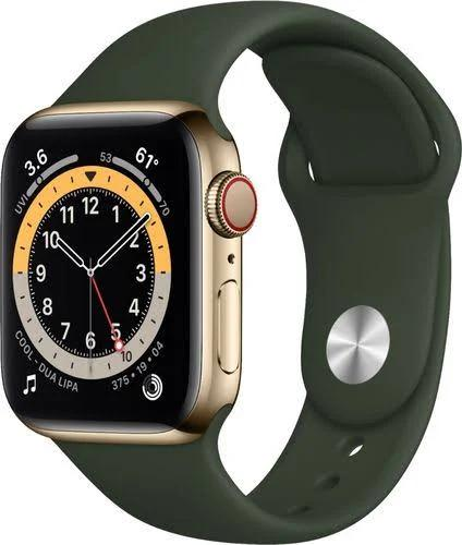 Apple - Apple Watch Series 6 Gps 44Mm Gold Aluminum Case With Pink Sand Sport Band - Gold - M00E3LL/A - 190199883192