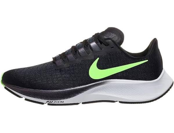 Nike Air Zoom Pegasus 37 Black Green Marathon Running Shoes/Sneakers BQ9646-001 (Size: EU 46)