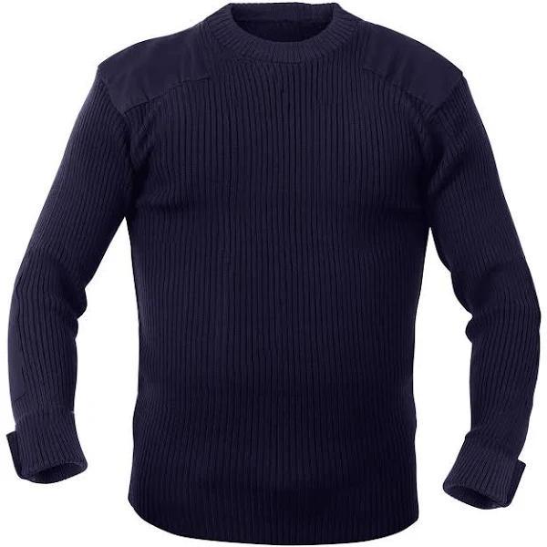 Rothco Commando Sweater - G.I. Style (Navy, XL)