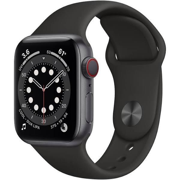 Apple Watch Series 6 40mm 4G grå/svart