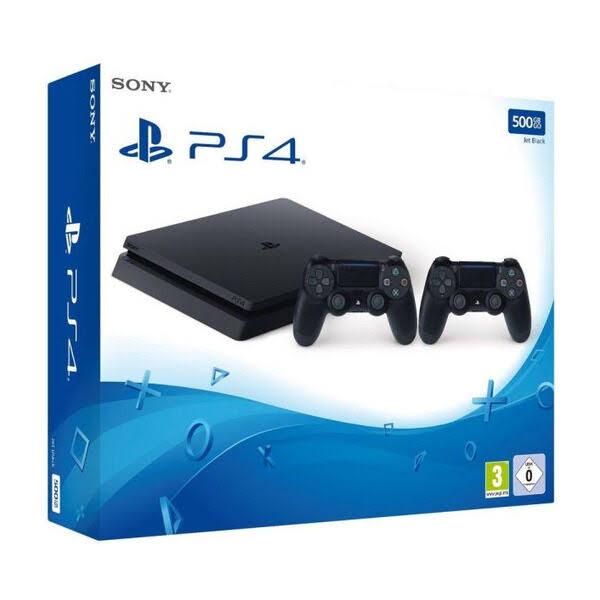 Sony PlayStation 4 Slim 500 GB (Inkl. 2 st Handkontroller)