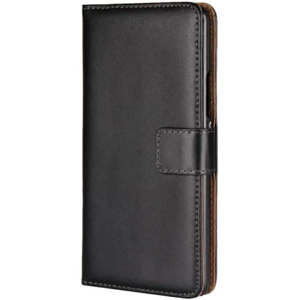Lenovo K6 Note Plånboksfodral i läder Svart