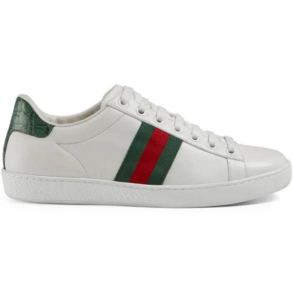 Gucci, Ace leather sneakers, Women, White, 37.5, Sneakers