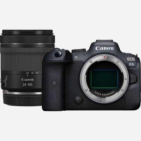 Canon EOS R6 20.1 MP Digital Camera - 4K - Mirrorless with Live View mode, movie recording - Black - RF 24-105mm F4-7.1 IS STM Lens