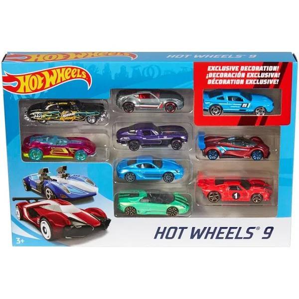 Hot Wheels 9 Bilar I Ett Set