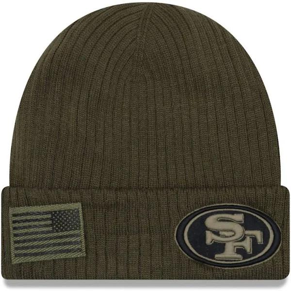 New Era Salute to Service Winter Hat - San Francisco 49ers Olive