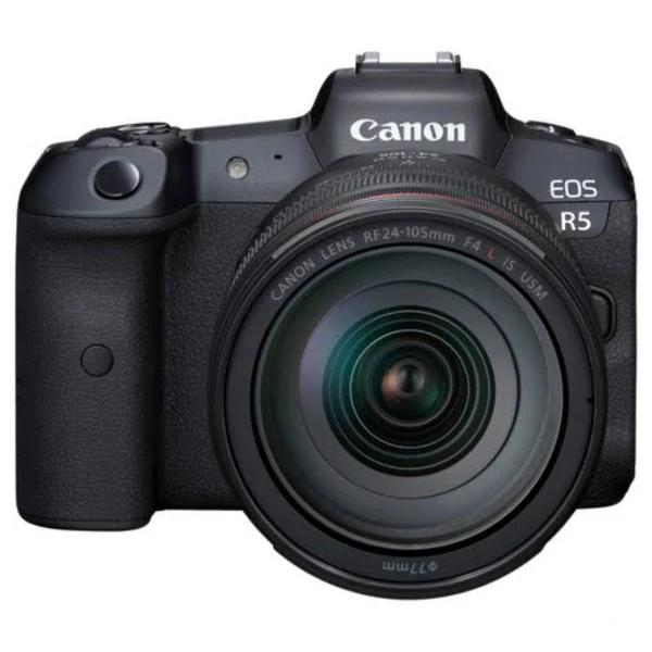 Canon EOS R5 Mirrorless Digital Camera with RF 24-105mm f/4L Lens