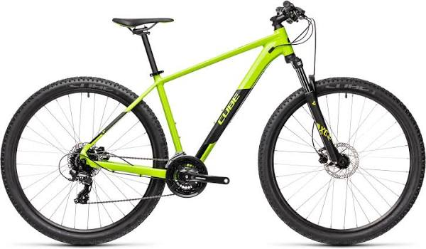 "Cube Aim Pro 27.5 Mountainbike (hardtail, 2021) - 14"" Green - Black"
