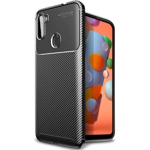 Olixar Carbon Fibre Samsung Galaxy A11 Case - Black