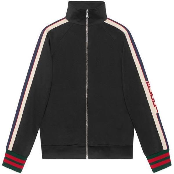 GUCCI Technical Jersey Jacket, Size Xxs