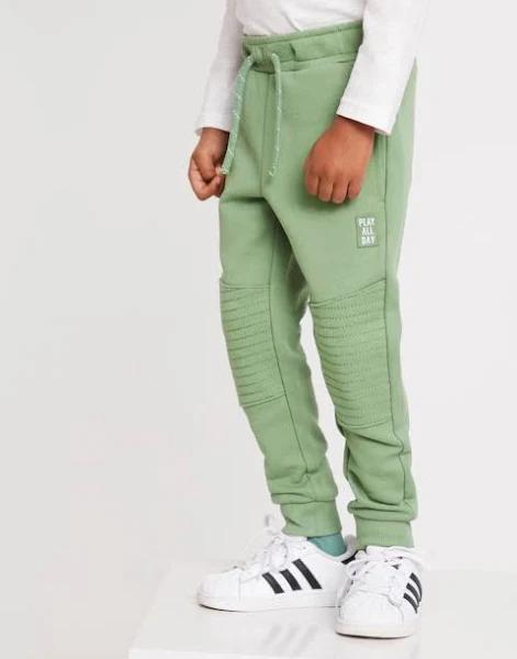 Lindex | Sweatpants med förstärkt knä | Grön | 122 | Pojkkläder