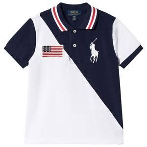 Ralph Lauren USA Flag Pikétröja 3 years - Barn - Pikétröjor | Marinblå