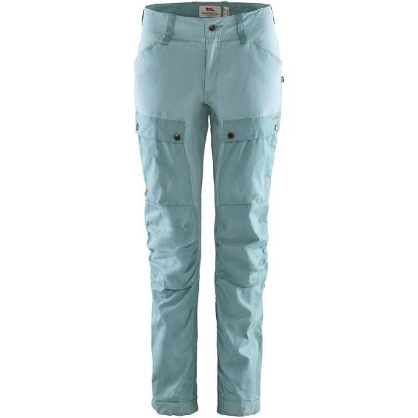 Fjallraven Keb Trousers Curved Regular Blue, Womens G-1000 Full-length Trousers (Size 42 - Color Clay Blue - Mineral Blue)