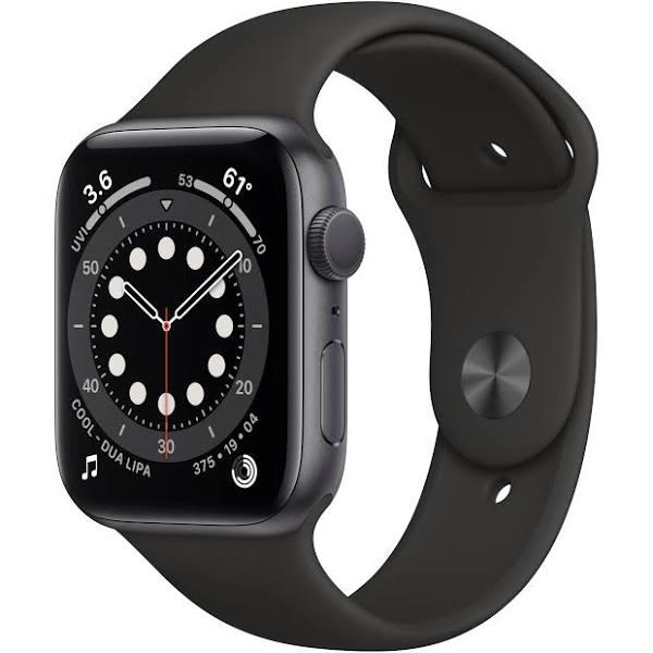 Apple Watch Series 6 (GPS) 44 mm Space Grey/Svart