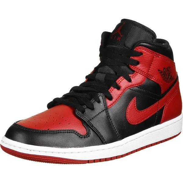Nike Air Jordan 1 Mid Banned Basketball Shoes/Sneakers 554724-074 (Size: EU 45.5)