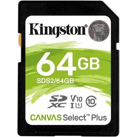 Kingston Technology Canvas Select Plus memory card 64 GB SDXC Class