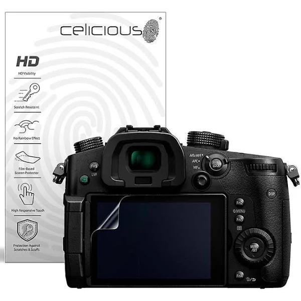 Celicious Vivid Invisible Glossy HD Screen Protector Film kompatibel med Panasonic Lumix DC-GH55 [Pack of 2]