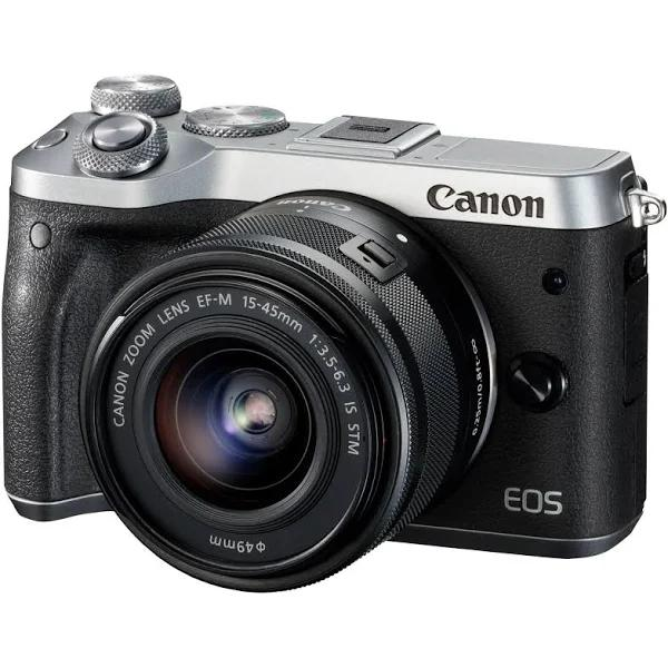 Canon EOS M6 Kit (EF-M 15-45mm IS STM) (Silver)